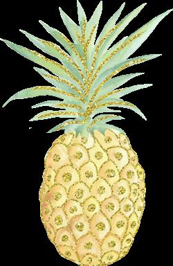 glitter pineapple Summer piña - Sticker by Anna