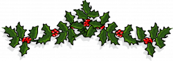 Clipart - Holiday Holly
