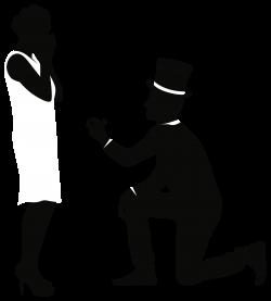 Romantic Couple Silhouettes PNG Clip Art - Best WEB Clipart