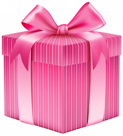Pink Striped Gift Box PNG Clipart Picture | Planner Happiness ...