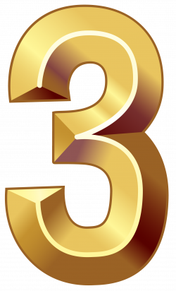 Gold Number Three PNG Clipart Image | Numbers64 | Pinterest | Gold ...