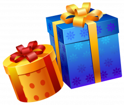 Blue Yellow Present Boxes PNG Clipart | Gallery Yopriceville - High ...