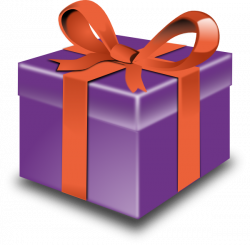 Purple Gift With Red Ribbon Clip Art at Clker.com - vector clip art ...