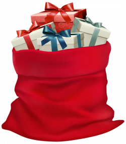 Christmas Sack with Gifts PNG Clip Art Image | jul | Pinterest | Art ...