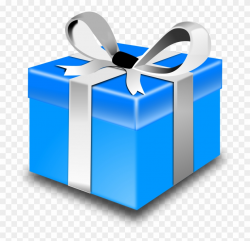 Presents Clip Art - Blue Christmas Gift Box - Png Download ...