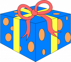 Present | Free Stock Photo | Illustration of a blue wrapped present ...