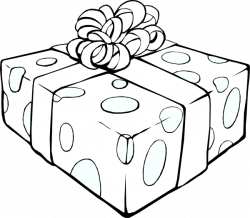 Gift Outline Clip Art at Clker.com - vector clip art online, royalty ...
