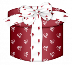 Red Heart Round Gift Box PNG Clipart | CLIPART | Pinterest | Box ...