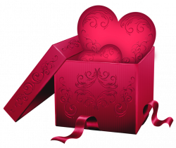 Transparent Gift Box with Heart PNG Clipart | СЕРДЦА HEARTS ...