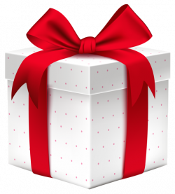 White Gift Box with Red Bow PNG Image | PNG images | Pinterest ...