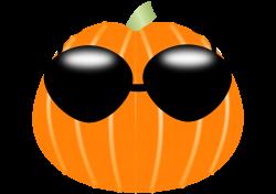 Clipart - Pumpkin wearing sunglasses