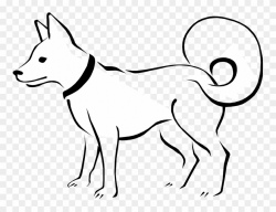 Drawn Puppy Small Puppy - Line Drawing Of Animals Clipart ...