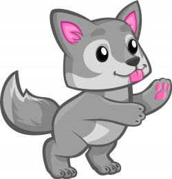 28+ Collection of Cute Wolf Clipart Black And White | High quality ...