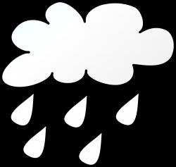 Clipart - Rain Line Art