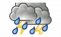 Hurricane Clipart Thunderstorm Transparent Background Rain ...