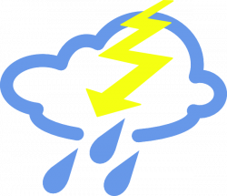Thunder Storms Weather Symbol Clip Art at Clker.com - vector clip ...