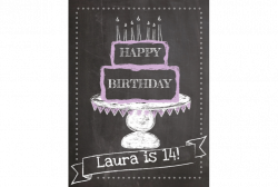 Happy Birthday Chalkboard Style Sign – SignitUp.com