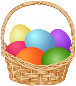 Basket with Easter Eggs Clip Art Image | Gallery Yopriceville ...