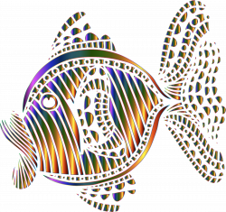 Clipart - Abstract Colorful Fish 9