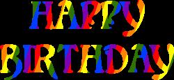 Clipart - Happy birthday rainbow typography 3