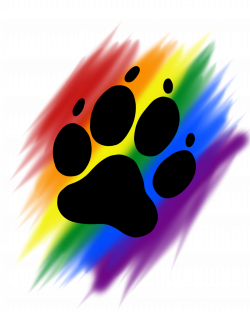 Rainbow brush paw print | Artworktee