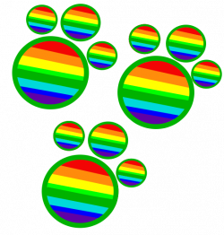 Rainbow Paws - Cutie Mark by DamselFlys on DeviantArt