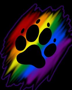Rainbow paw print. | Artworktee