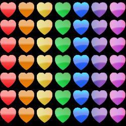 Stock Clip Art – Rainbow Hearts | Clip Art Department