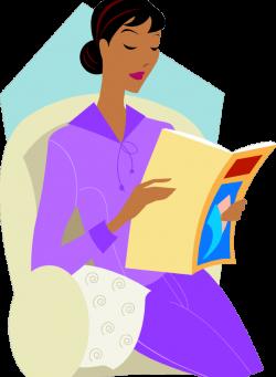 reading magazine - N. J. Lindquist