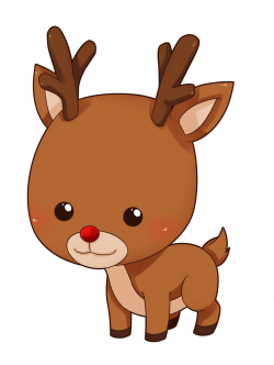 This cute and adorable baby reindeer clip art is great for use on ...