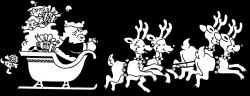 Santa | Free Stock Photo | Illustration of Santa and his reindeers ...