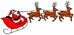 Animated santa sleigh clipart images gallery for free ...