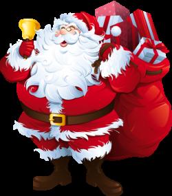 Transparent Santa Claus with Big Bag Clipart | Текстуры | Pinterest ...