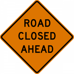 Road Closed Sign Clipart