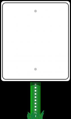 Clipart - Road Sign Border