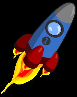 Rocket | Free Stock Photo | Illustration of a blue rocket | # 16613