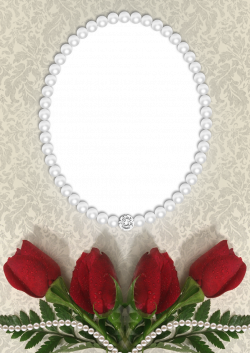 Roses and Pearls Transparent PNG Frame   Frames   Pinterest   Pearls ...