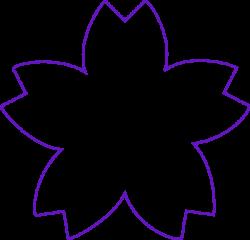 Flower Shape Purple Clip Art at Clker.com - vector clip art online ...