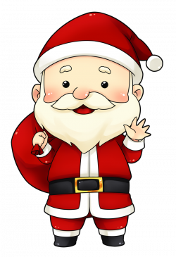 You can use this cute and adorable Santa clip art on whatever ...