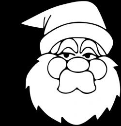 clipartist.net » Clip Art » santa black white xmas christmas SVG