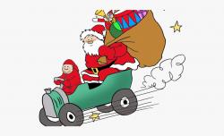 Drawn Santa Car - Santa Claus Car Png #1749529 - Free ...