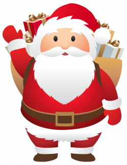Cute Santa PNG Clipart Image | Gallery Yopriceville - High-Quality ...