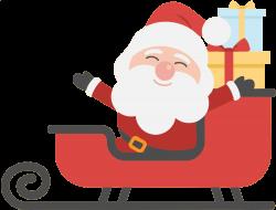 OnlineLabels Clip Art - Santa And Sleigh 2