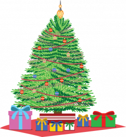 28+ Collection of Christmas Tree With Presents Clipart | High ...