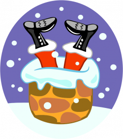 Santa In A Chimney clip art Free Vector / 4Vector - Clip Art Library