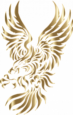Clipart - Chromatic Tribal Eagle 2 4 No Background