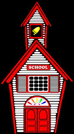 Clipart - White Schoolhouse