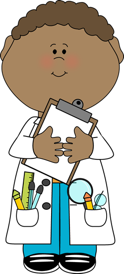 Boy Scientist with Clipboard Clip Art - Boy Scientist with ...
