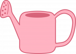 Pink Garden Watering Can - Free Clip Art