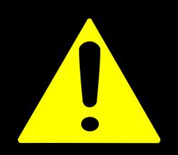 Warning Sign Clip Art at Clker.com - vector clip art online, royalty ...